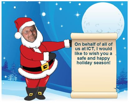 Stan Ziemba as Santa with holiday message