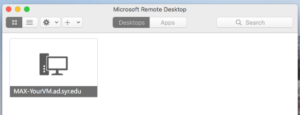 see your new connection listed in the Microsoft Remote Desktop app